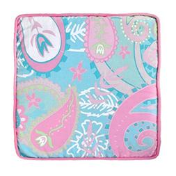 My Baby Sam Pixie Baby Throw Pillow, Aqua and Pink