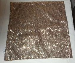 "New Kevin Textile Bling Set Of 2 Gold Sequin 17"" X 17"" Pillo"