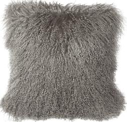Pillow Decor Brand - Genuine Mongolian Sheepskin Gray Throw