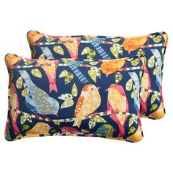 Pillow Perfect Indoor/Outdoor Ash Hill Corded Rectangular Th