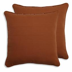Pillow Perfect Indoor/Outdoor Cinnabar Corded Throw Pillow,