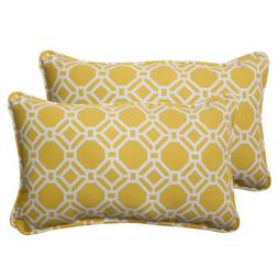 Pillow Perfect Outdoor Rossmere Corded Rectangular Throw Pil