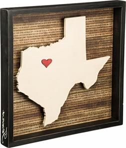 "Primitives by Kathy Wanderlust Texas Box Sign, 16.5"" x 15.5"""