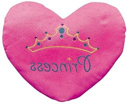 """Princess"" Heart Pillow  13 1/2"" X 11"". Plush."