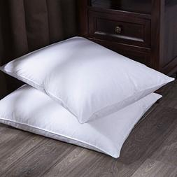 puredown Goose Down and Feather Bed Pillow, White, Jumbo Siz