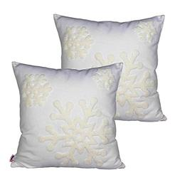 Queenie® - 2 Pcs Christmas Series Embroidered Cotton Linen
