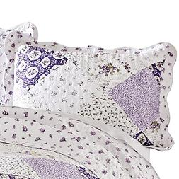 Quilted Floral Patchwork Wilmington Pillow Sham, Machine Was