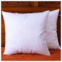 Set of 2, Down and Feather Throw Pillow Insert, The Fabric i