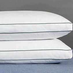 Set of 2, YSTHER Down and Feather Gusset Pillows, Rhombic Qu