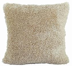 Solid Cushion Cover ChezMax Zippered Plush Throw Pillow Case