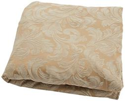Sure Fit Scroll T-Cushion - Chair Slipcover  - Champagne