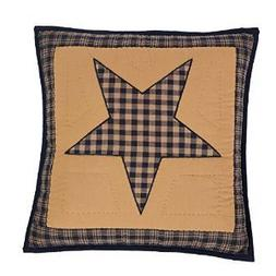 Teton Star Primitive Country Patchwork Quilted Pillow Cover