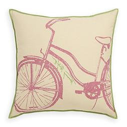 Tommy Hilfiger Bicycle Pink and Peapod Pillow