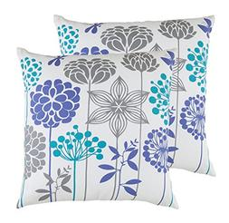 TreeWool,  Blossom Accent Throw Pillow Covers in Soft Cotton