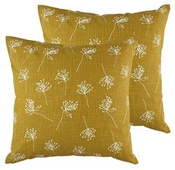 TreeWool,  Dandelion Accent Throw Pillow Covers in Cotton Sl