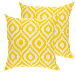 TreeWool,  Throw Pillow Covers Ikat Ogee Accent Decorative P