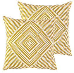 TreeWool,  Kaleidoscope Accent Throw Pillow Covers in Cotton