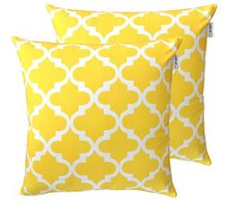 TreeWool Throw Pillow Cover Trellis Accent Pure Cotton Decor