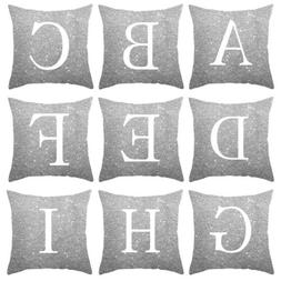 a z letter square pillow case throw