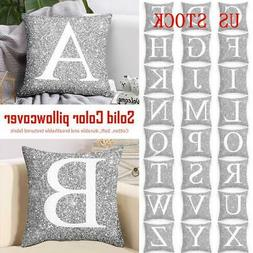 A-Z Letters Cushion Throw Pillow Case Cover Home Sofa Bed De