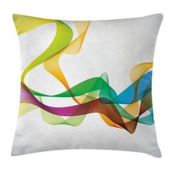 Abstract Decor Throw Pillow Cushion Cover by Ambesonne, Arti
