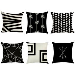 abstract geometric cotton linen cushion cover throw