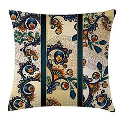 Ambesonne Abstract Throw Pillow Cushion Cover by, Paisley Ba