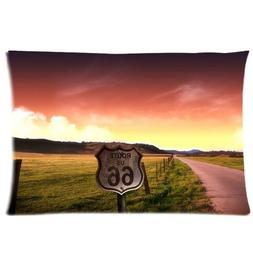 America No.66 Road Scenery Background Comfortable Cotton&Pol
