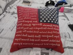 american flag 50 states throw pillow new