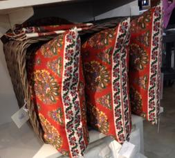 Pottery Barn Anastasia Pillow Cover Red 20x20 Floral Patchwo