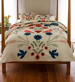 Ansley Folk Art King Quilt Set in Cream