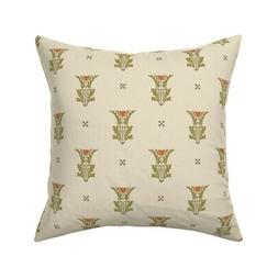 Art Nouveau Arts And Crafts Throw Pillow Cover w Optional In