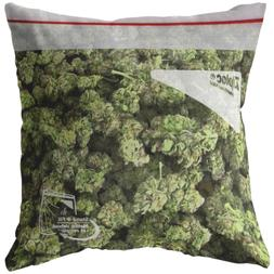 Bag of Weed Throw Pillow / Pillowcase - Funny Stoner Gift -