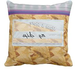 Baggies of Candy or Snack Novelty Sofa or Bed Throw Pillow C