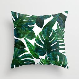 Banana Leaves Throw Pillow Covers Decorative 18 x 18 Home De