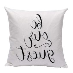 Be Our Guest White Throw Pillow Cover Case Cushion Sham 18 x