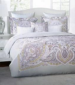 Harlow Bedding 3 Piece King Duvet Cover Set Classic Medallio