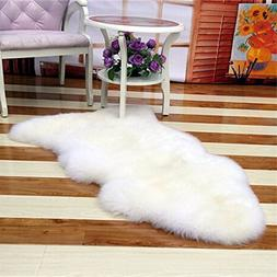 Bedroom Faux Mat Soft Hairy Carpet Sheepskin Chair Cover Sea