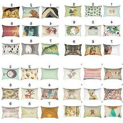 Bee Bear Throw Pillow Case Rectangular Sofa Bed Home Decor C