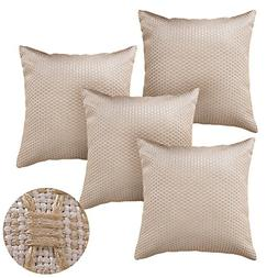 Deconovo Beige Pillow Covers 18x18 Decorative Throw Pillows