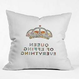 DENY Designs Bianca Green Her Daily Motivation Throw Pillow,