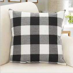 Black And White Buffalo Pillow Plaid Throw Pillow Case Cushi