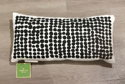 kate spade black and white dotted rectangular throw pillow