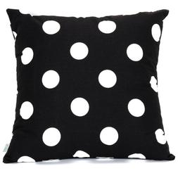 Majestic Home Goods Black Large Polka Dot Pillow, Large