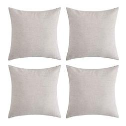 Deconovo Blank Pillow Covers Throw Cushion Cover Faux Linen