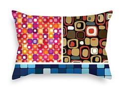NICEPLW 12 X 20 Inches / 30 By 50 Cm Color Block Pillow Case