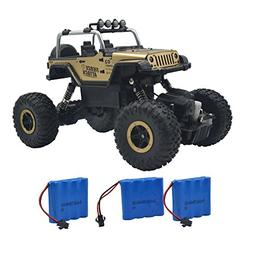 Blomiky Wesipi C182 4WD Gold Alloy Monster RC Truck Toys Off