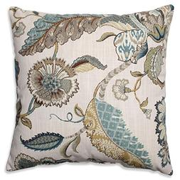"16.5"" Blue Finders Keepers Floral Decorative Throw Pillow"