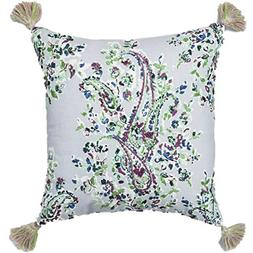 Threshold Blue Paisley Embroidered Throw Pillow