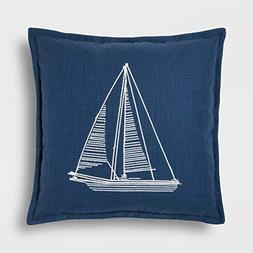Threshold-Blue Sailboat Throw Pillow - 18x18 inches